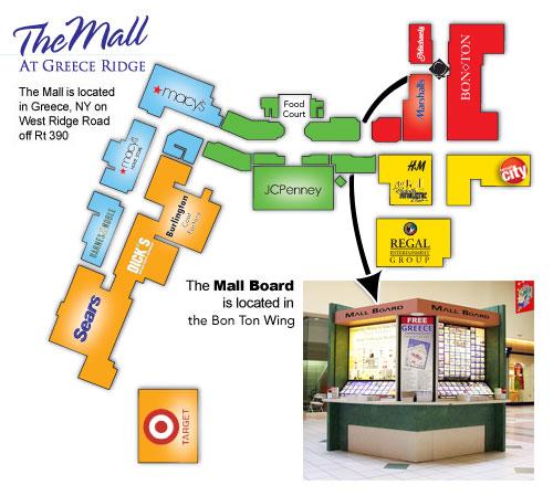 Greece Ridge Center Mall Map